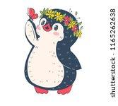 illustration with funny cartoon ... | Shutterstock .eps vector #1165262638