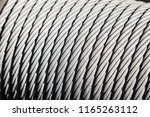 metal cable on the spool for...   Shutterstock . vector #1165263112