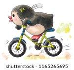 illustration with funny cartoon ... | Shutterstock . vector #1165265695