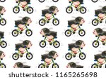 seamless pattern with cute... | Shutterstock . vector #1165265698