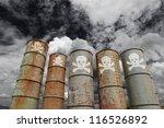 weathered steel toxic storage... | Shutterstock . vector #116526892
