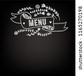 template for the menu on the... | Shutterstock .eps vector #1165270198