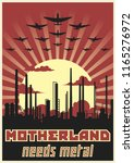 motherland needs metal. retro... | Shutterstock .eps vector #1165276972