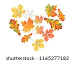 heart of colorful autumn leaves ... | Shutterstock .eps vector #1165277182
