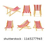 wooden chaise longue set in... | Shutterstock .eps vector #1165277965