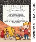 doodle builder template vector. ... | Shutterstock .eps vector #1165279288