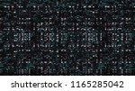 glitch. abstract shapes. chaos. ... | Shutterstock .eps vector #1165285042