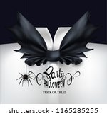 halloween party invitation card ... | Shutterstock .eps vector #1165285255