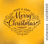 merry christmas. typography.... | Shutterstock .eps vector #1165285435