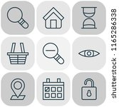 network icons set with trading... | Shutterstock .eps vector #1165286338