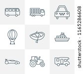 vehicle icons line style set... | Shutterstock .eps vector #1165286608