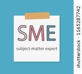 sme subject matter expert... | Shutterstock .eps vector #1165287742