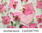 composition with flowers ... | Shutterstock . vector #1165287745