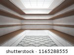 large bright wardrobe room with ... | Shutterstock . vector #1165288555