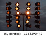 spotlight at music event with... | Shutterstock . vector #1165290442