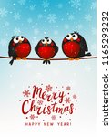 christmas greeting card with... | Shutterstock .eps vector #1165293232