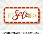 horizontal  frame with shining... | Shutterstock .eps vector #1165293652