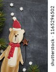 christmas decoration background ... | Shutterstock . vector #1165296502