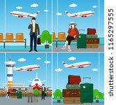 set of airport image  view on... | Shutterstock .eps vector #1165297555