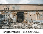 ruined abandoned industrial... | Shutterstock . vector #1165298068