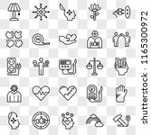 set of 25 transparent icons... | Shutterstock .eps vector #1165300972