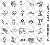 set of 25 transparent icons... | Shutterstock .eps vector #1165301068