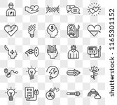 set of 25 transparent icons... | Shutterstock .eps vector #1165301152