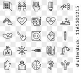 set of 25 transparent icons... | Shutterstock .eps vector #1165301215
