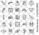set of 25 transparent icons... | Shutterstock .eps vector #1165303882