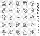 set of 25 transparent icons... | Shutterstock .eps vector #1165308382