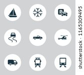 transport icons set with... | Shutterstock . vector #1165309495