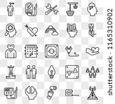 set of 25 transparent icons... | Shutterstock .eps vector #1165310902