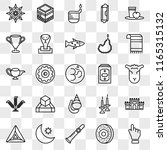 set of 25 transparent icons... | Shutterstock .eps vector #1165315132