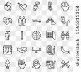 set of 25 transparent icons... | Shutterstock .eps vector #1165315318
