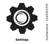 settings icon vector isolated... | Shutterstock .eps vector #1165321555