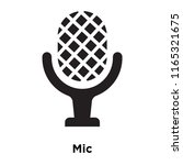 mic icon vector isolated on...