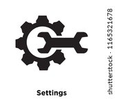 settings icon vector isolated... | Shutterstock .eps vector #1165321678