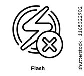 flash icon vector isolated on... | Shutterstock .eps vector #1165322902