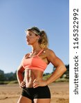 strong motivated fitness woman...   Shutterstock . vector #1165322992
