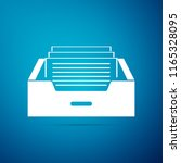 drawer with documents icon... | Shutterstock .eps vector #1165328095
