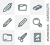 instrument icons line style set ... | Shutterstock .eps vector #1165331275