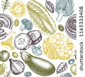 healthy food vector background. ...   Shutterstock .eps vector #1165333408