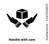 handle with care icon vector... | Shutterstock .eps vector #1165334815