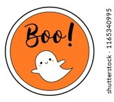 halloween sticker with cute... | Shutterstock . vector #1165340995
