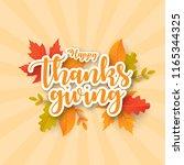 happy thanksgiving background... | Shutterstock .eps vector #1165344325