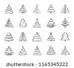 christmas tree charcoal icon... | Shutterstock .eps vector #1165345222