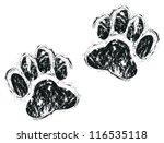 dog paws | Shutterstock .eps vector #116535118