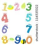 funny number  vector  | Shutterstock .eps vector #116535322