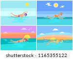 freestyle and butterfly ...   Shutterstock .eps vector #1165355122