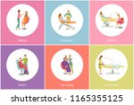 hair styling and makeup visage... | Shutterstock .eps vector #1165355125